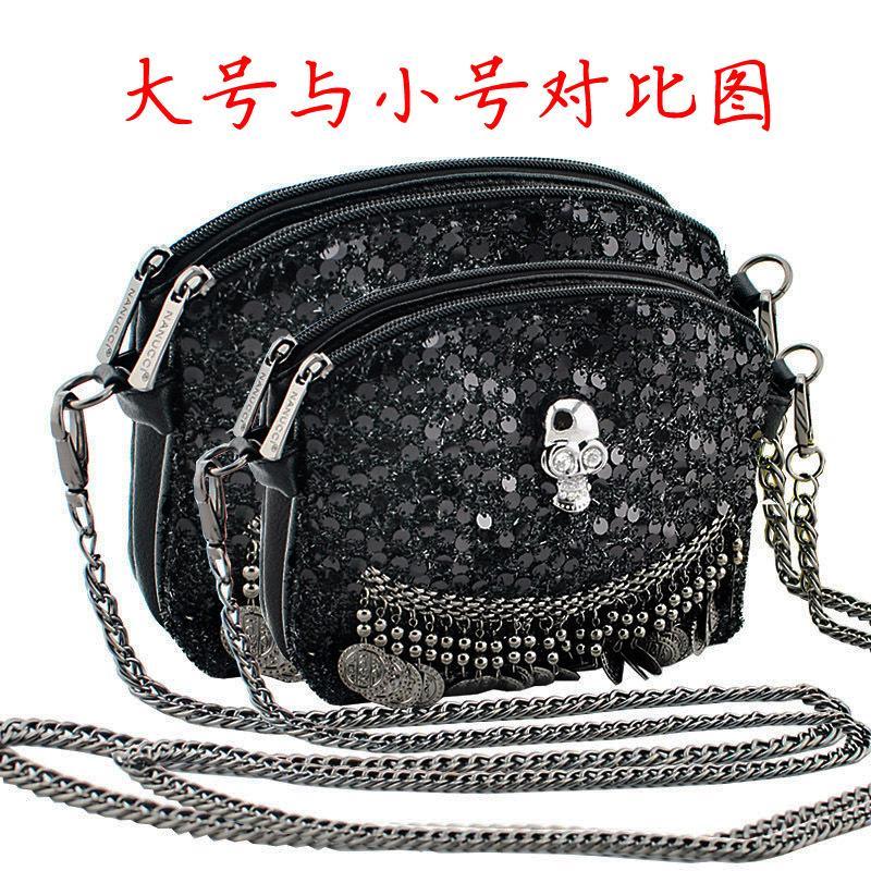 New 2015 Fashion Women Messenger Bag Borsa Donna Crossbody Hand Bag For Lady Chain Straps Handbag Scales Skull Bag Valentine Bag(China (Mainland))