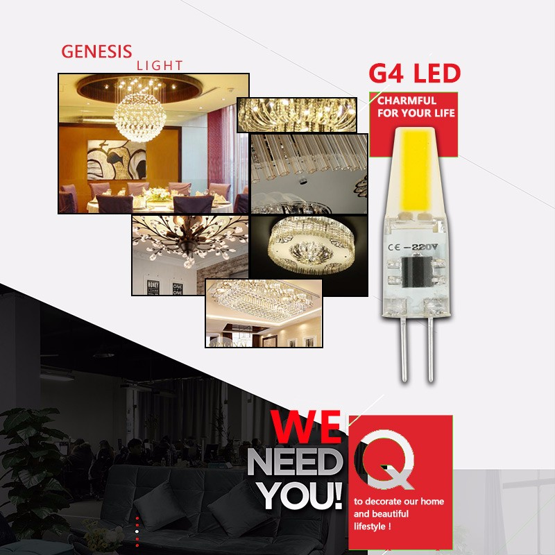2017 Dimmable G4 LED AC 220v 3W 6W 9W High Quality LED G4 Lamp Bulb COB SMD Lighting Lights replace Halogen G4 for Chandelier