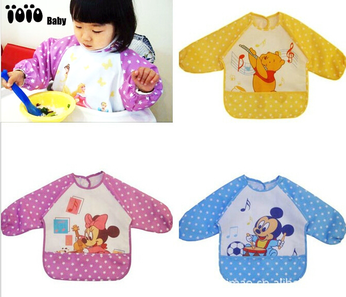 New 2014 Minnie Mickey Baby Kids Robe Smock Overclothes Over Coat 0-2Y Dustcoat Vestrue Baby Overall Smock Free Shipping 1(China (Mainland))