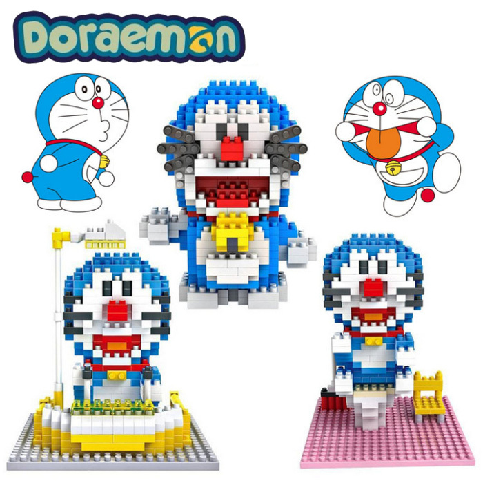 Гаджет  Free shipping LOZ Anime Cartoon Doraemon Blocks The Robot Cat Action Figure ABS DIY Toys Best Birthday Gift None Игрушки и Хобби