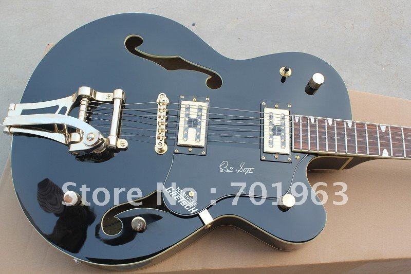 HOT wholesale new style guitar wholesales New black Falcon Electric Guitar with Bigsby(China (Mainland))