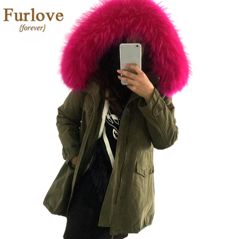 long winter jacket women 2016 large raccoon fur hooded. Black Bedroom Furniture Sets. Home Design Ideas