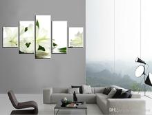 5p Free Shipping Hot Sell Modern Wall Painting Art Paint on Canvas Prints The charming pure proud of fragrant white lilies(China (Mainland))