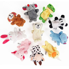 1PCS Baby Plush Toys Cartoon Happy Family Fun Animal Finger Hand Puppet Kids Learning & Education Toys Gifts Baby Toys(China (Mainland))