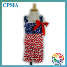 Wholesale Patriotic girls Romper, Patriotic clothing, 4th of July toddler Red white and blue Romper-300pcs/lot(China (Mainland))