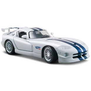 New 1:24 Dodge GT Alloy Diecast Model car Toy Collection White B1735(China (Mainland))