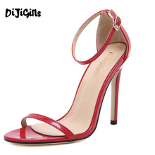 Hot sale 2016 Vogue 4 color woman summer shoes T-stage Classic Dancing High Heel Sandals Sexy Stiletto/Party wedding shoes YD190(China (Mainland))