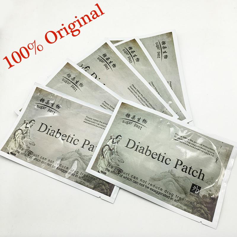 50pcs/lot Diabetes Herbal Diabetes Cure Lower Blood Glucose Treatment Diabetic Patch Russian Instruaction