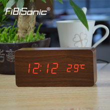 Buy FiBiSonic Alarm Clocks Thermometer,Wood Wooden Led clocks, Digital Table Clock,Electronic Clocks Cost for $14.00 in AliExpress store
