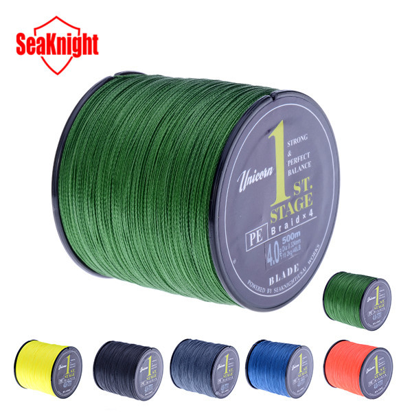 500M SeaKnight Brand Blade Series Good Quality Japan PE Braided Fishing Line Multifilament Fish Line Rope 8 10 20 30 40 60LB(China (Mainland))