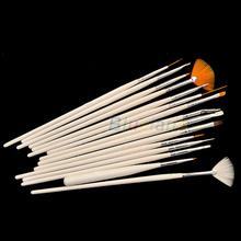 New 15pcs Nail Art Gel Design Painting Pen Polish Brush Set Nail Beauty Nail Care 08QL