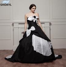 Buy Taffeta Strapless Court Train Zipper Wedding Dress 2017 Vestido De Noiva Robe De Mariage Casamento Plus Size Bride Ball Gowns for $198.75 in AliExpress store