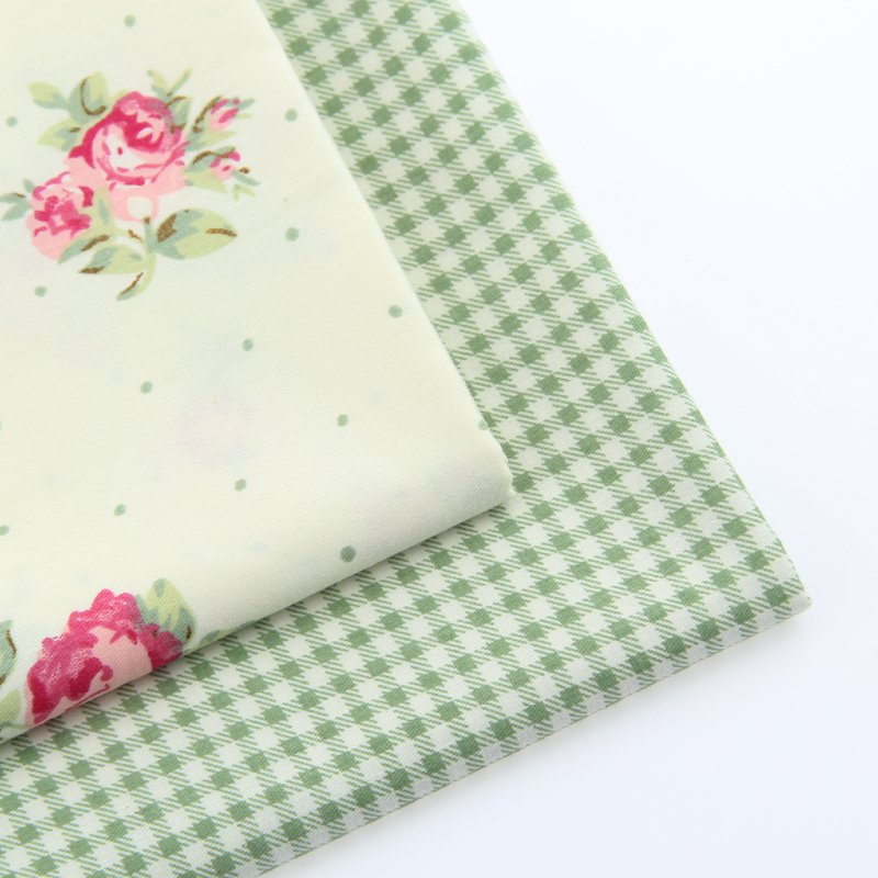 Гаджет  2015 Flower Design Cotton Material High Quality 2 Kinds Different Color Cotton Fabric DIY Sewing Craft Cloth 20*25cm A2-2-26S None Дом и Сад