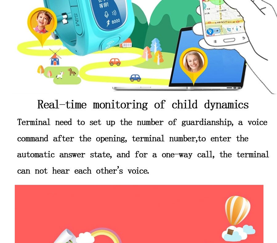 image for  Y3 OLED Screen Smart GPS/GSM/Wifi Tracker Location Finder SOS Call An