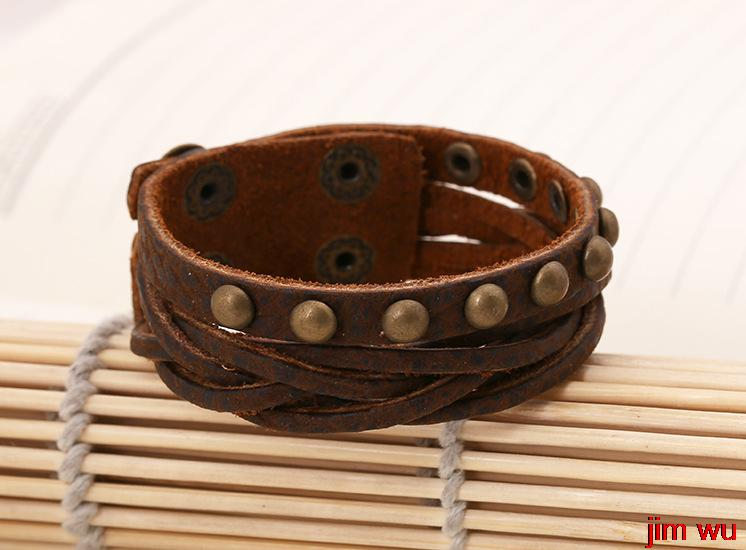 Manufacturers selling new jewelry products Europe and the United States to restore ancient ways the leather bracelet(China (Mainland))