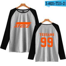 2019 летняя популярная футболка с длинными рукавами с принтом Kpop Plus ATEEZ Ralgan футболка с длинными рукавами женская/мужская повседневная кофта с ...(China)