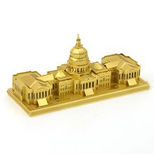 Конгресс США Головоломки Для Мальчиков DIY Сборки Модели Здания Детей Игрушки Brinquedos Развивающие Игрушки 3D Металлические Головоломки