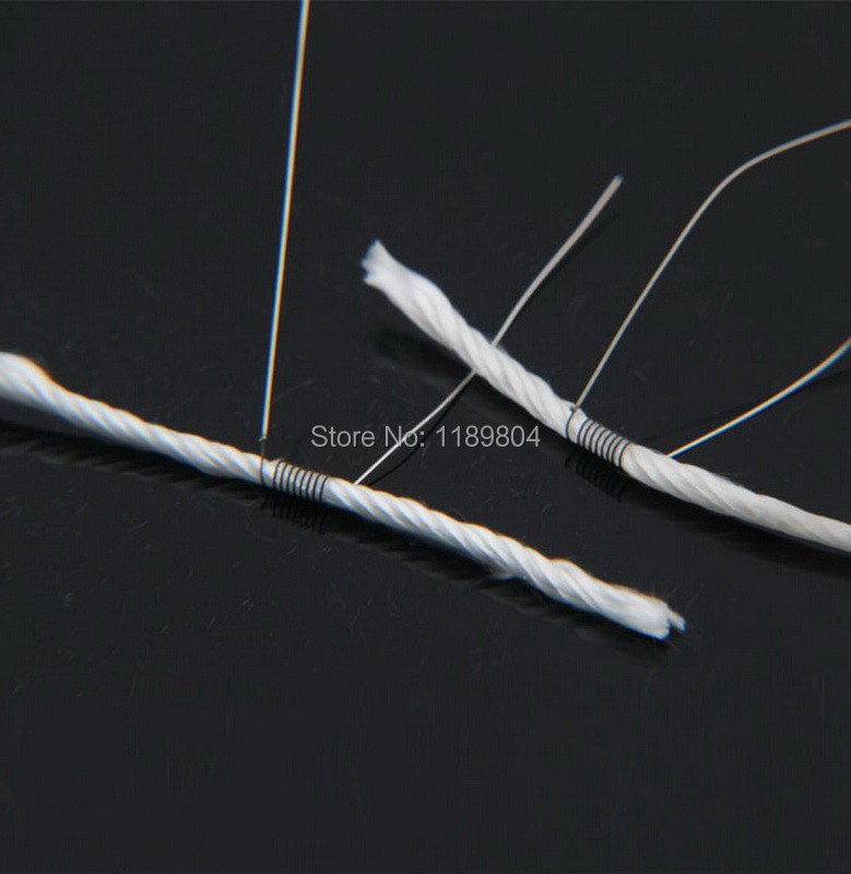 50pcs Heating Wire coil Long wick coil wire with Cotton smoke Universal for Electronic Cigarette Atomizer(China (Mainland))