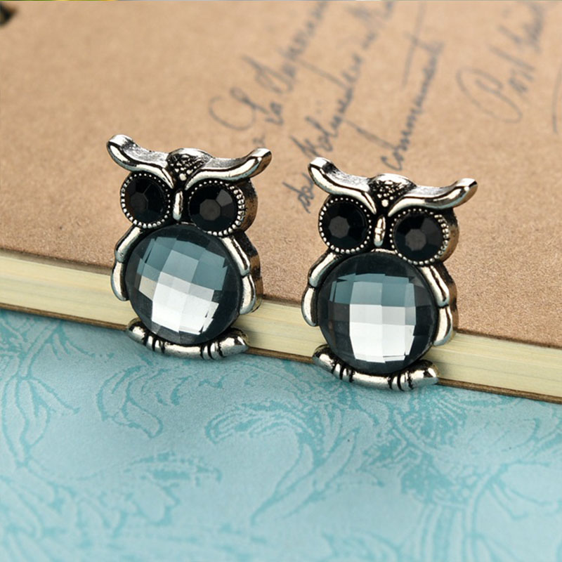 2016 Special Style Owl Rhinestone Brooch Collar Pin Brooch Wedding Mens Suit Female Party Dress Fashion Brooches Accessories(China (Mainland))