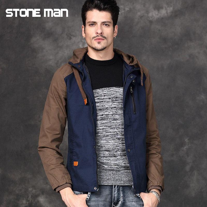 2015 Brand STONE MAN Jacket Winter Overcoat Warm Padded Jacket Autumn Male Fashion Coat Sports Clothing Wholesale SPP021(China (Mainland))