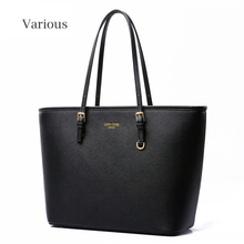 Fashion Leather Women Shoulder Bag Black Handbag Cross Pattern Women Bags 2015 Designer Handbags High Quality Bolsa Feminina(China (Mainland))