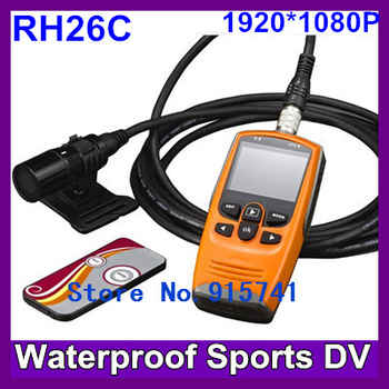2013 Newest Full HD 1080P Sports camera RH26C sport dvr waterproof dvr cameras,portable dvr with 2.0TFT LCD Free Shipping