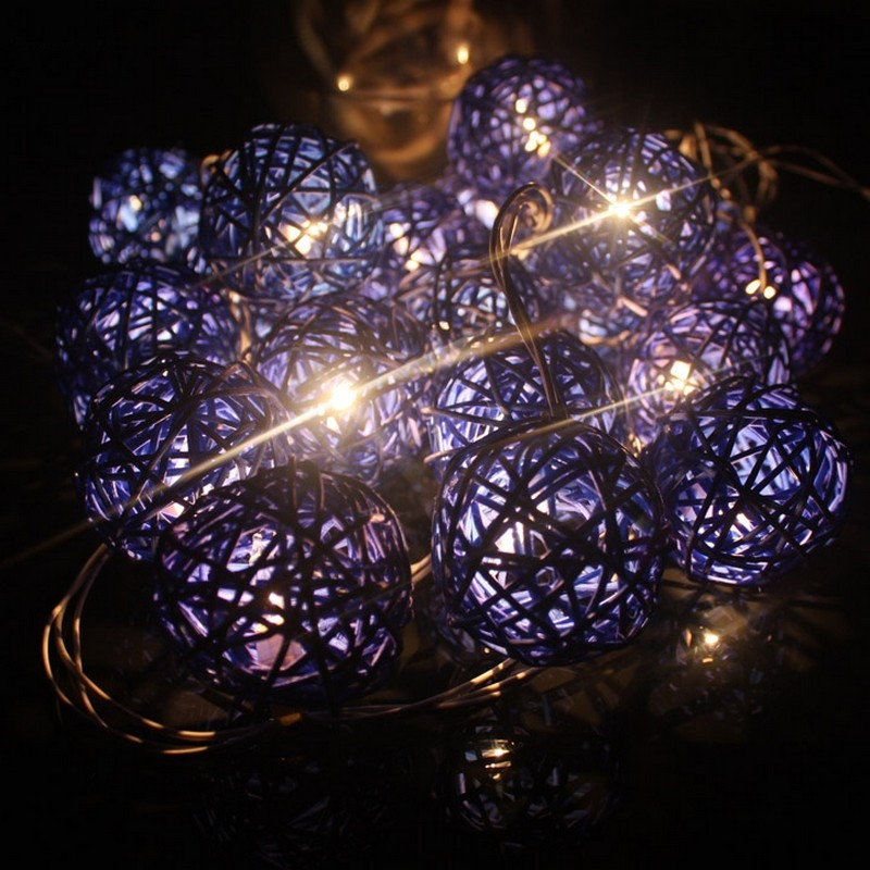 New Colorful 30 LED Cotton Ball Light Ball-Shaped String Fairy Lights 5CM*4M Christmas Lihgts Decoration Luces Decorativas 2S<br><br>Aliexpress