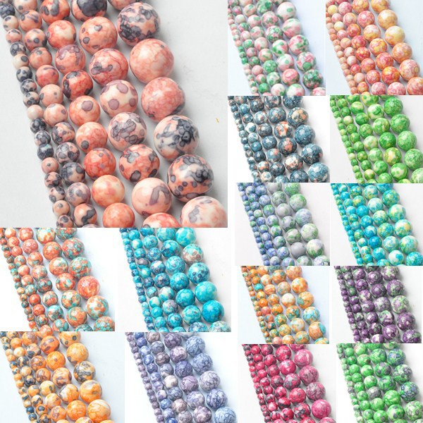 4MM New!Mixed Color 5AAA+ Rainbow Round Natural Stone Beads for Women Bracelet making Jewelry Accessories Wholesale 95 piece/lot(China (Mainland))