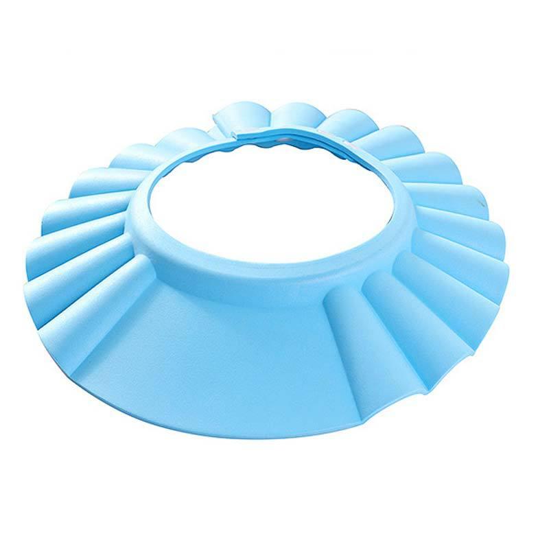 Гаджет  Hot Adjustable Soft Baby Shampoo Shower Cap Baby Care Bath Protection For Kid Wash Hair Shield None Детские товары