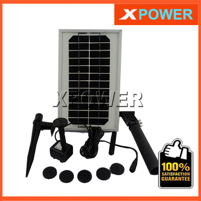 JT-180-3W 12V DC Brushless Motor Solar Water Pump Kit 150CM 300L/H Simulation Landscape Fountain with Solar Panel(China (Mainland))