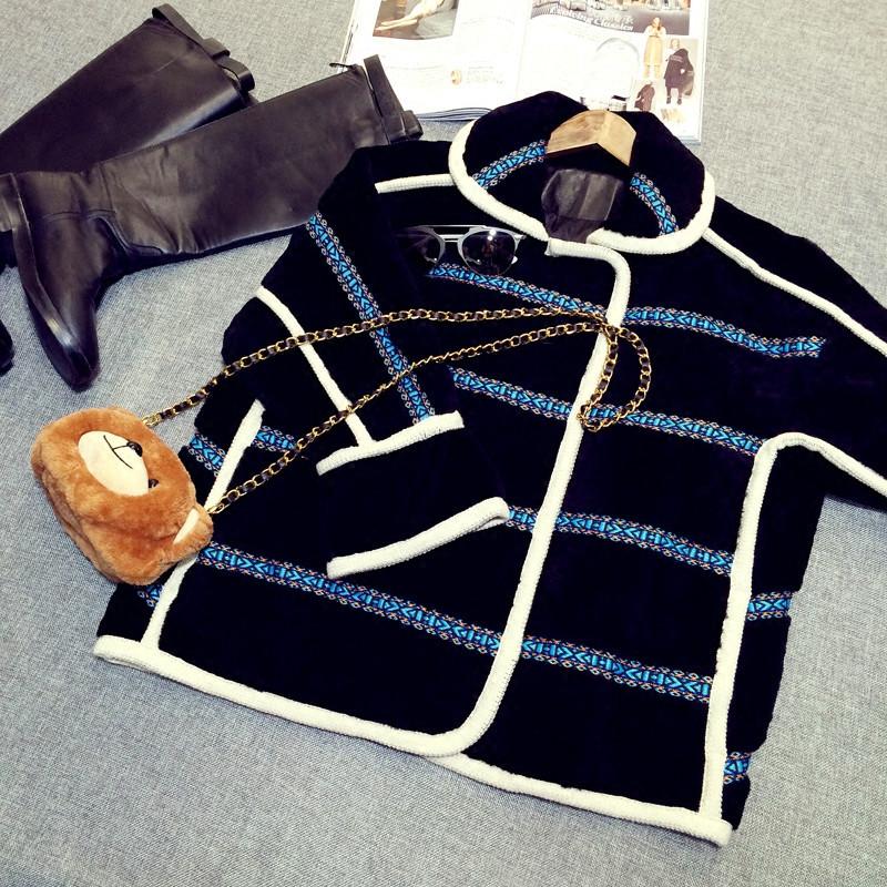 arlene sain custom women  Black lamb fur fur imports Thin handsome profile Female loose free shippig