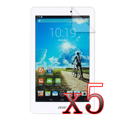 5x For Acer Iconia 8 Transparent Clear LCD Screen Protector For Acer Iconia Tab 8 W1-810 8 inch Protective Film (5 film+5 cloth)(China (Mainland))