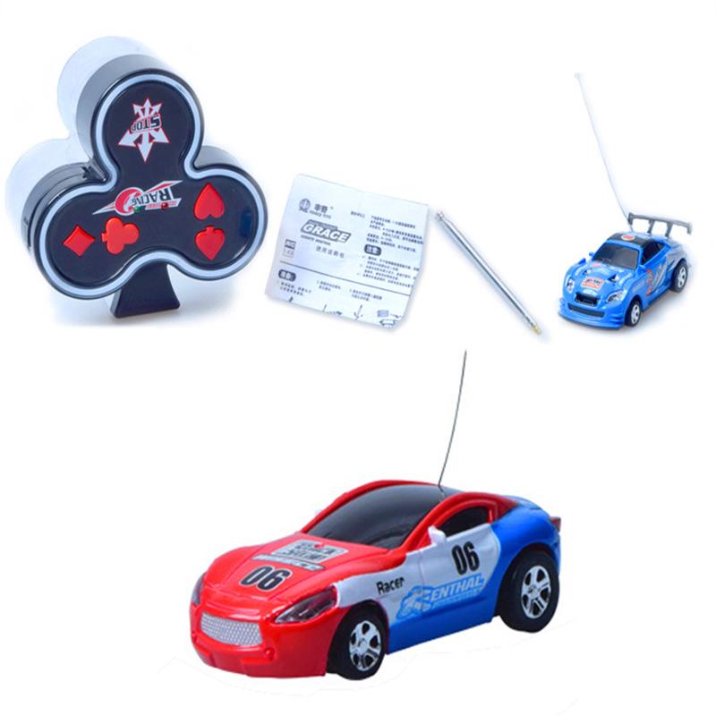 2016 New Funny 4CH 1:63 RC Control Coke Can Car MINI Poker Print Car RC Drift educational Toys(China (Mainland))