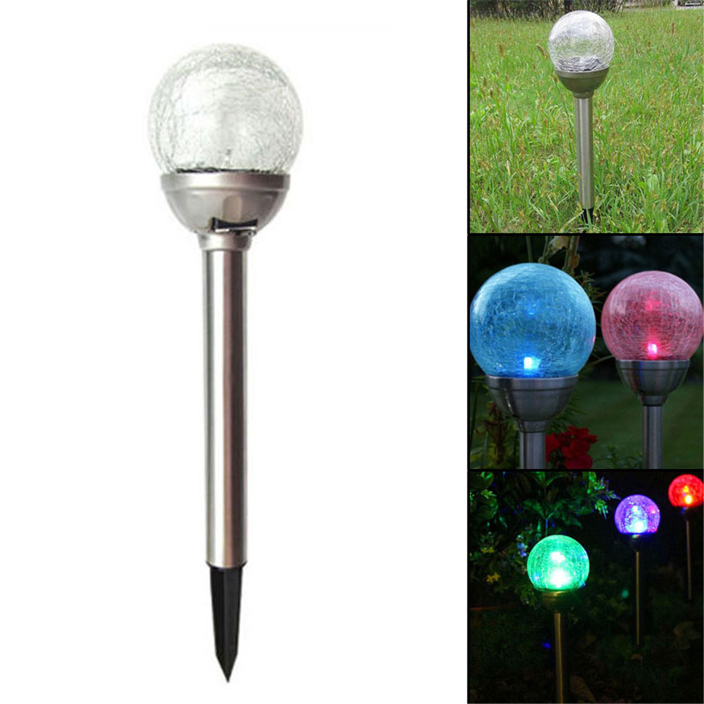 Outdoor Solar Power 7 Color Changing LED Light Garden Yard Path Landscape Lamp with high rate of conversion(China (Mainland))