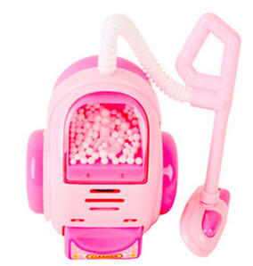 Free shipping lovely kids toy pink color plastic material creative toys mini vacuum cleaner modeling toys for children(China (Mainland))