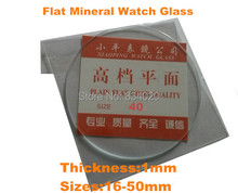 Free Shipping 2pcs 1mm Selected Size 16~50mm Flat Mineral Round Watch Glass Accessories Watch Repair Crystal(China (Mainland))
