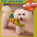 2016 Warm Autumn Winter Pet dog Clothes Wool Sweater Cute Pink Green Collar bow Clothes for