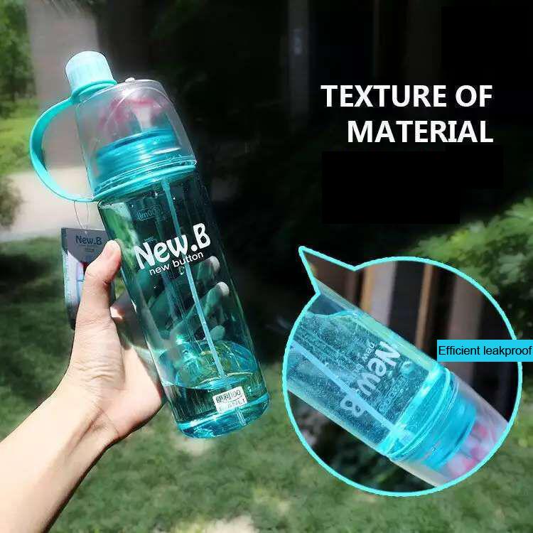 HOT The spray bottle 600 ml big capacity High Quality Plastic garrafa Sport Water Bottle Lemon Juice readily Cup Space bottles(China (Mainland))