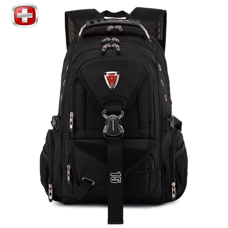 Men Backpack Swiss Army Knife Large Pocket Size Bag Women