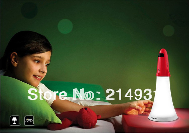 Spaceship Combo Creative Lamp for Home Office, Apollo Rocket Style Rechargeable LED Flashlight Torch