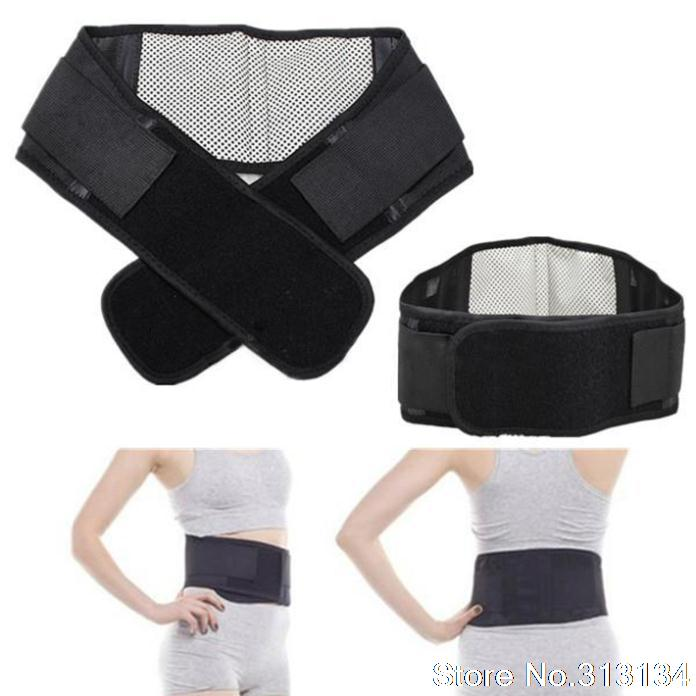Adjustable Tourmaline Self-heating Magnetic Therapy Waist Support Belt Lumbar Back Waist Support Brace Drop Shipping Wholesale(China (Mainland))