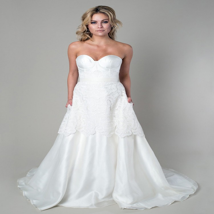 2015 plus size country style vestido de noiva white ivory for Country style lace wedding dress