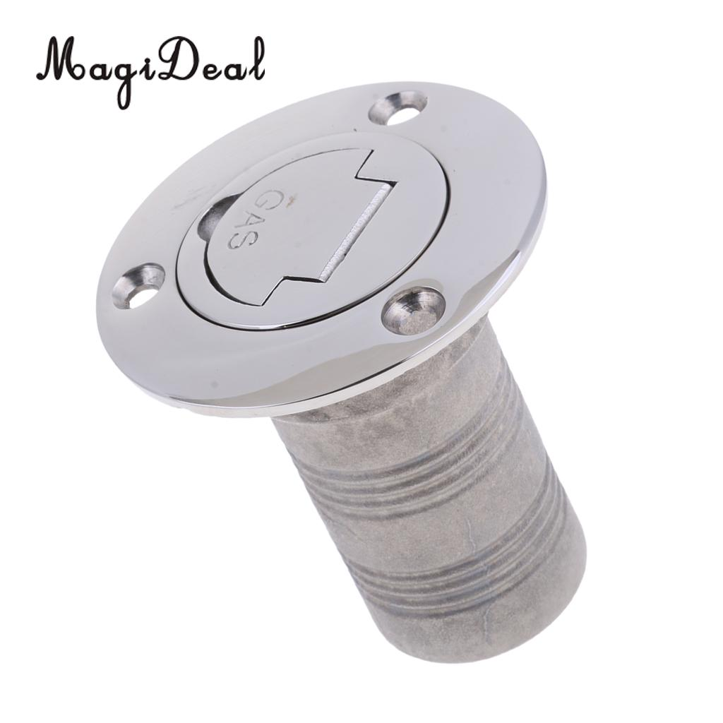 MagiDeal Boat Deck Fill / Filler Keyless Cap - 1 1/2\` Gas - 316 Stainless Steel for Boats Marines Yachts Car Rafting Replacement