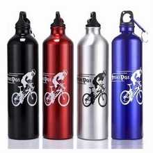 Hot Sell 750ml Bicycle Bike Aluminum Alloy Kettle Water Bottle For Camping Hiking Cycling Climbing Outdoor Sports Free Keychain(China (Mainland))