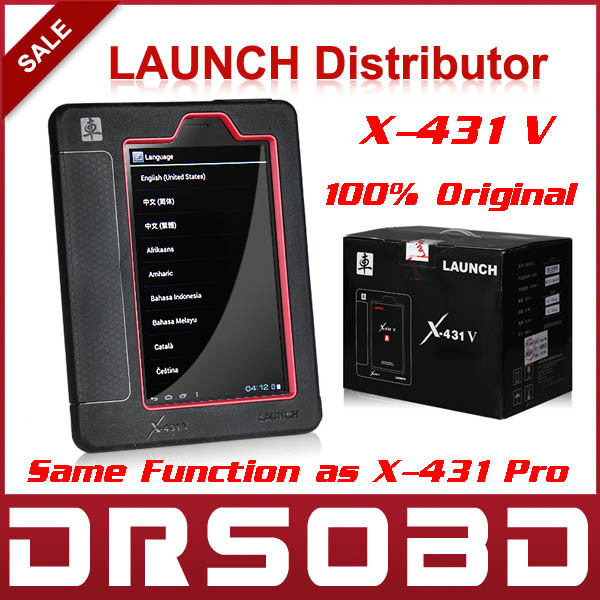 Professional Auto Scanner LAUNCH X431 V Wifi / Bluetooth Diagnosis Tablet Full System X-431 Pro Online Update + Multi-Language(China (Mainland))