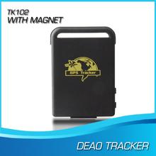 Бесплатная доставка мини GPS / GSM / GPRS автомобилей автомобильный трекер TK102B с usb кабель отслеживание в реальном времени устройства чел трек устройство