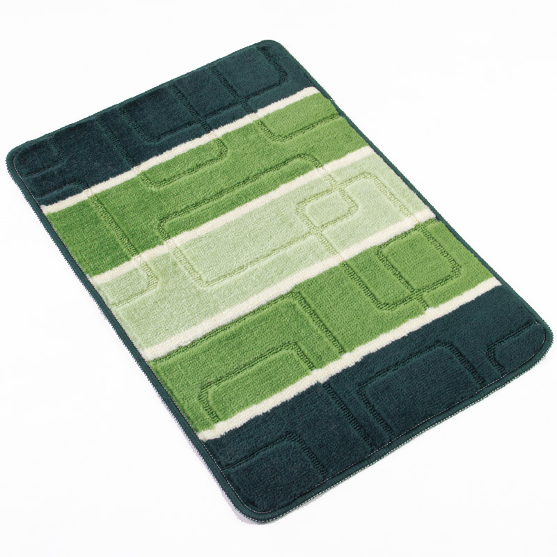 Green Plaid Home Brand Bathroom Rug For Bathroom/Kitchen