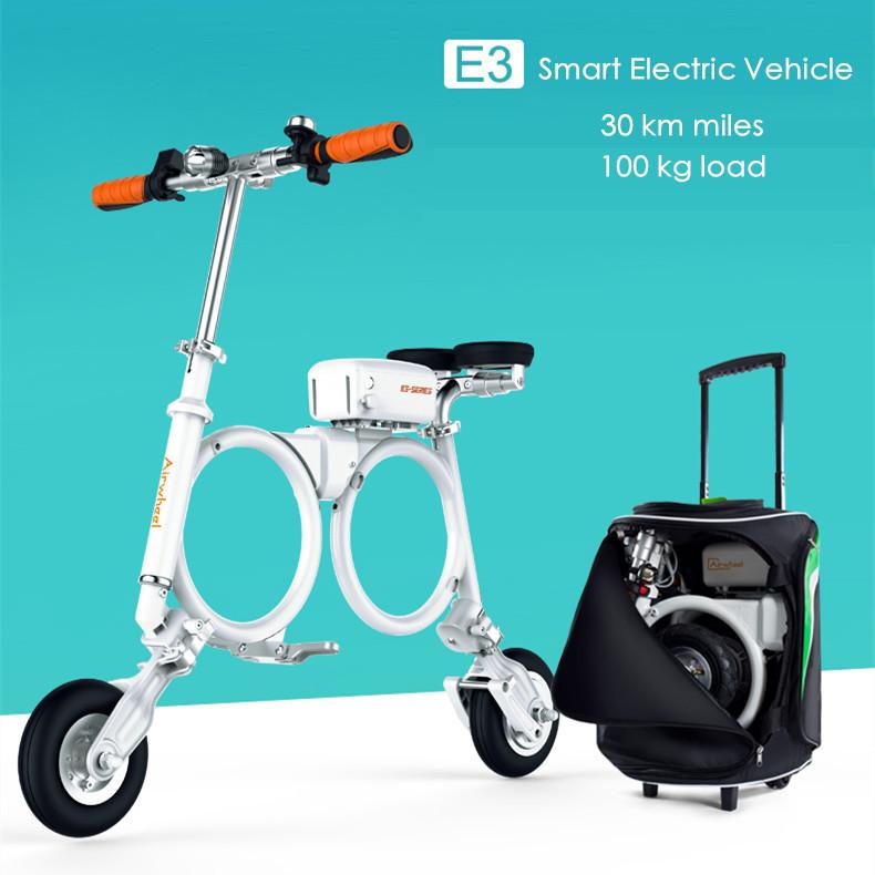 Original Airwheel E3 load 100kg 30km miles foldable smart electric bike 18650 battery bicycle bicicleta eletrica 300W motorcycle(China (Mainland))