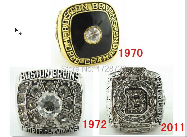 high qulity NHL 1970 1972 2011 Boston Bruins Stanley Cup Hockey Replica World Championship Rings solid(China (Mainland))