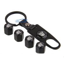 New Metal Transformers Car Wheel Airtight Tyre Tire Stem Air Valve Caps key Chain Set 4pcs Free Shipping(China (Mainland))